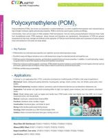 POM, GF+POM, MD+POM, Impact modified/ Low noise POM, Low Friction POM