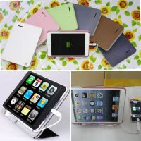 Portable Leather Case Power Backup Battery Charger for Pad Mini iPhone5 Galaxy S3/I9300 with Capacity 10000mAh for Emergency Use