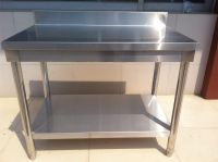 Stainless Steel Work Tables with backsplash