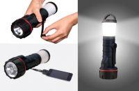 Hand Crank Powered Flashlight/Lantern with USB Charger
