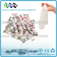 Non-woven biodegradable compressed coin tablet napkin/tissue in 1pc clear or transparent candy bag