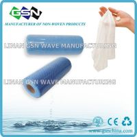 non-woven disposable cleaning cloth rolls/spunlace  fabric
