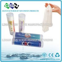 compressed tube magic tablet napkin/tissue