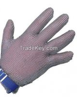 stainless steel braided glove