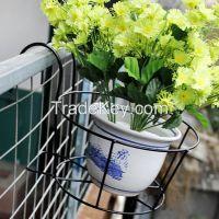 iron flower POT stand