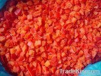 Frozen diced/ sliced red bell pepper