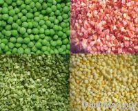 Frozen green peas/ diced carrot/ garlic