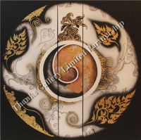 Circle Shaped Oil Paintings