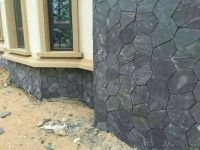 black slate stone panel for exterior wall decoration