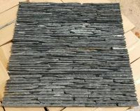 Natural black slate rustic cultured stone panel for wall cladding