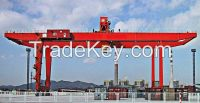 120 ton U type rail mounted gantry crane