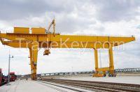 120 ton U type rail mounted gantry crane