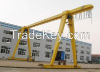 Electric single girder underslung gantry crane 10ton