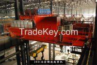 Heavy duty 100t plate unloading/loading crane