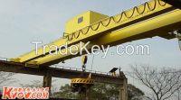 Heavy duty 100t overhead magnet spreader crane