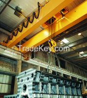 China manufacturer price double beam overhead crane