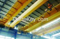 30 ton trolley travelling double girder overhead bridge crane in steel