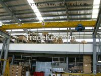 5t electric single girder underslung overhead crane price