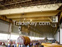 Hot sale double girder 5t remote control overhead cranes