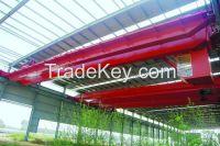 QD type workshop overhead crane manufacturers with hook in steel