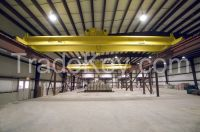 Low price 5t hoist double girder overhead crane for workshop