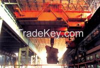 Motor driven double trolley ladle crane up to 600 ton