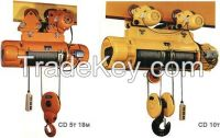 MD1 type double speeds electric rope hoists price
