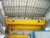 China electric double girder overhead crane 16t 20t with hoist