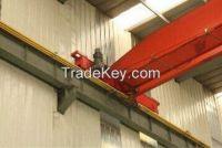 LD type 20t electric single girder underslung overhead cranes price