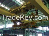 20t electromagnet overhead crane with carrier-beam