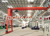 10t single girder semi-gantry crane
