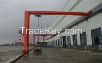 light duty 5t single girder semi-gantry crane
