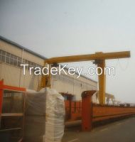 16t single girder semi-gantry crane