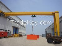 5t single girder semi-gantry crane