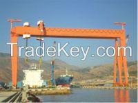 light duty 10t ship building gantry crane