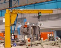 Low speed 380V foot mounted jib crane