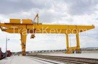 Light duty 10t rail mounted container gantry crane