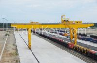 10t rail mounted container gantry crane