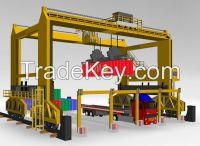 Heavy duty 50t rubber tyre gantry crane