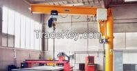 360 degree light duty portal luffing jib crane