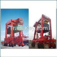 380V 35t container straddle carrier gantry crane