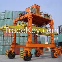 380V 40t container straddle carrier gantry crane