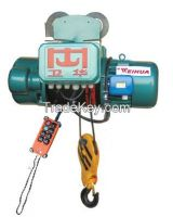 1t 2t wire rope motor hoist