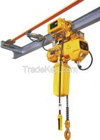 1000kg dual speed electric chain hoist