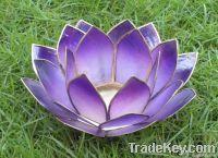 Capiz Lotus Candle Holder / Handmade Gift Item