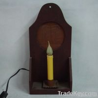 Candle light with wooden frame