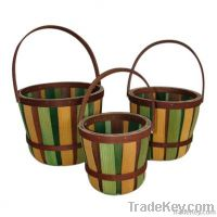Wooden handle baskets