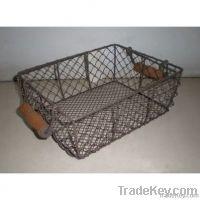Wire gift basket