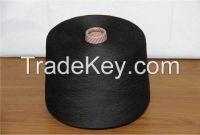 polyester viscose blended color yarn (color:black )