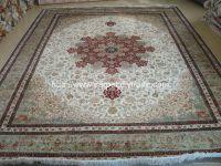 handmade silk-woolen mixed carpet and rug